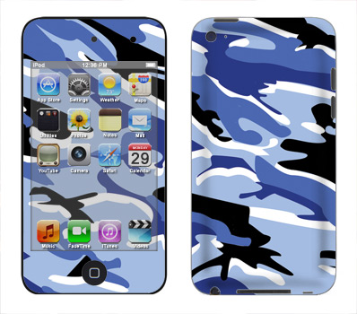 Apple iTouch 4th Gen Skin :: Camo Blue