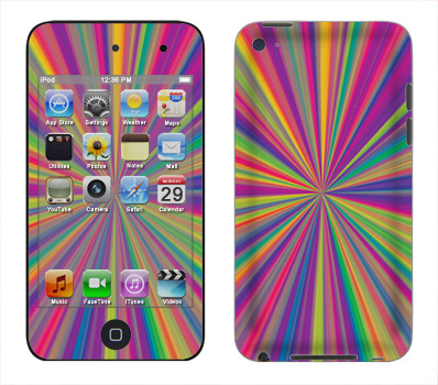 Apple iTouch 4th Gen Skin :: Color Blast