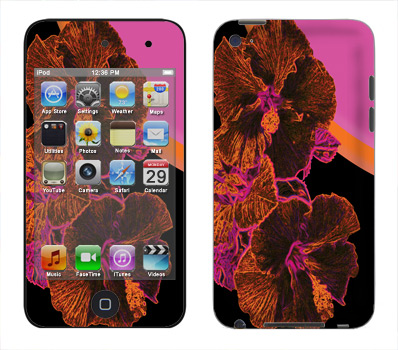 Apple iTouch 4th Gen Skin :: Cosmic Flowers 3