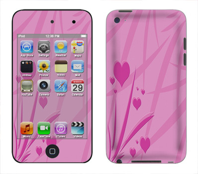 Apple iTouch 4th Gen Skin :: Floating Hearts