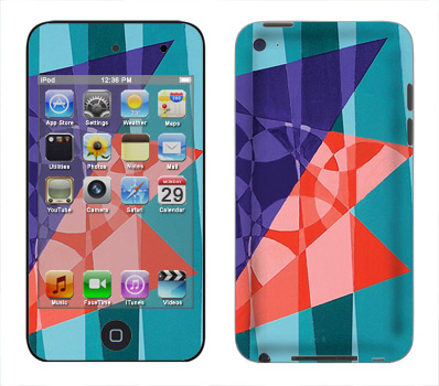 Apple iTouch 4th Gen Skin :: Geometric Blast