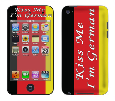 Apple iTouch 4th Gen Skin :: Kiss Me German