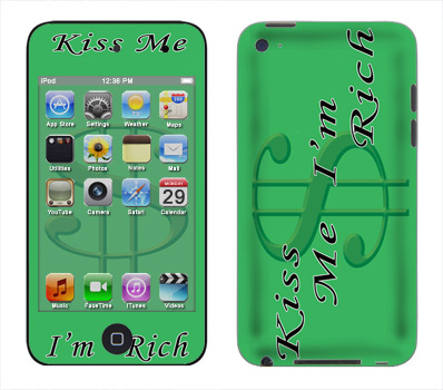 Apple iTouch 4th Gen Skin :: Kiss Me Rich