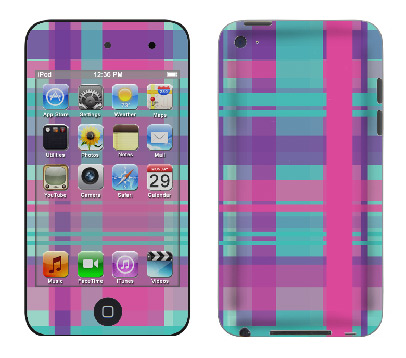 Apple iTouch 4th Gen Skin :: Candy Shop Plaid