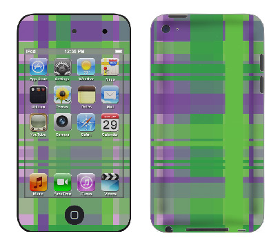 Apple iTouch 4th Gen Skin :: Punk Rock Plaid