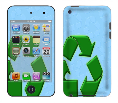 Apple iTouch 4th Gen Skin :: Recycle