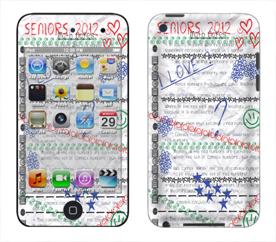 Apple iTouch 4th Gen Skin :: Seniors 2012