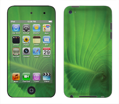 Apple iTouch 4th Gen Skin :: Spiraling Green