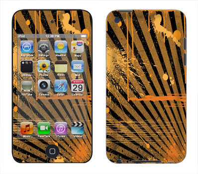 Apple iTouch 4th Gen Skin :: Splatter Orange