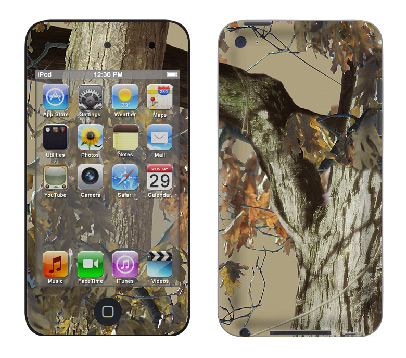 Apple iTouch 4th Gen Skin :: Tree Camo Tan