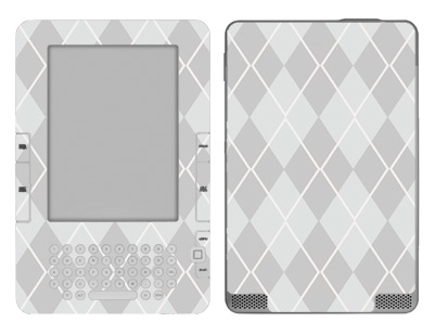 Amazon Kindle 2 Skin :: Argyle Gray