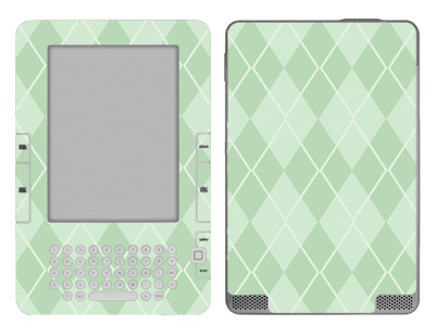 Amazon Kindle 2 Skin :: Argyle Green