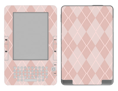 Amazon Kindle 2 Skin :: Argyle Red