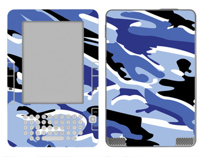 Amazon Kindle 2 Skin :: Camo Blue