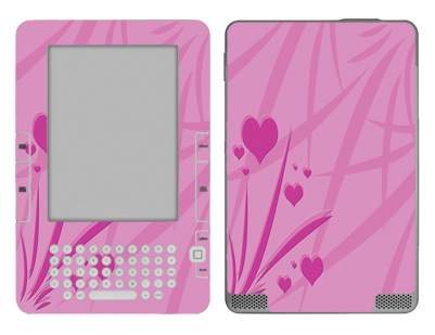 Amazon Kindle 2 Skin :: Floating Hearts