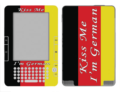 Amazon Kindle 2 Skin :: Kiss Me German