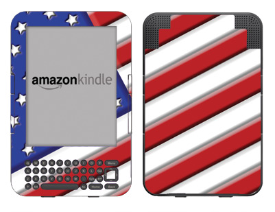 Amazon Kindle 3 Skin :: American Flag 1