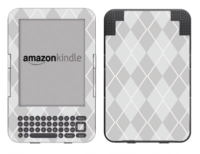 Amazon Kindle 3 Skin :: Argyle Gray