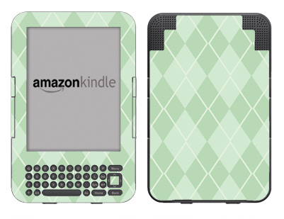 Amazon Kindle 3 Skin :: Argyle Green