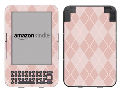 Amazon Kindle 3 Skin :: Argyle Red
