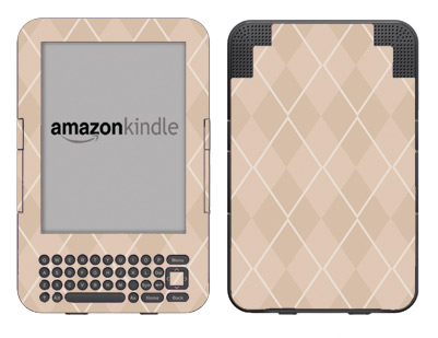 Amazon Kindle 3 Skin :: Argyle Tan