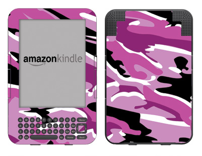 Amazon Kindle 3 Skin :: Camo Pink
