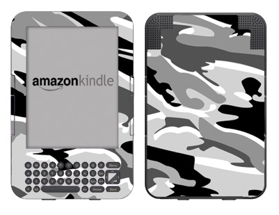 Amazon Kindle 3 Skin :: Camo Snow