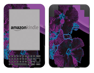 Amazon Kindle 3 Skin :: Cosmic Flowers 1