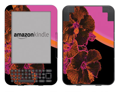 Amazon Kindle 3 Skin :: Cosmic Flowers 3