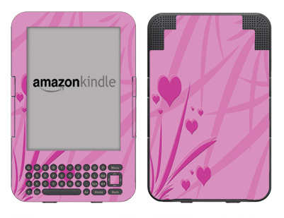 Amazon Kindle 3 Skin :: Floating Hearts