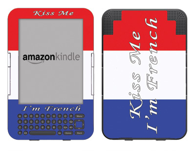 Amazon Kindle 3 Skin :: Kiss Me French