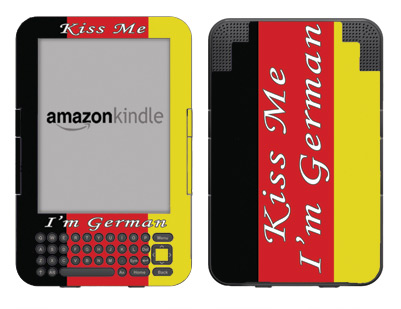 Amazon Kindle 3 Skin :: Kiss Me German