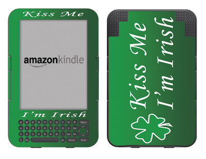 Amazon Kindle 3 Skin :: Kiss Me Irish