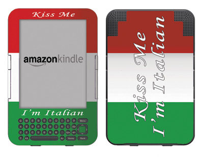 Amazon Kindle 3 Skin :: Kiss Me Italian