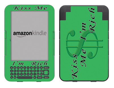 Amazon Kindle 3 Skin :: Kiss Me Rich