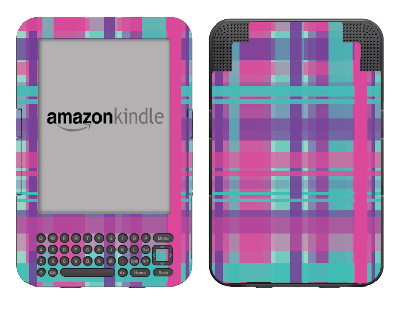 Amazon Kindle 3 Skin :: Candy Shop Plaid