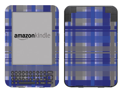 Amazon Kindle 3 Skin :: Oceans Deep Plaid