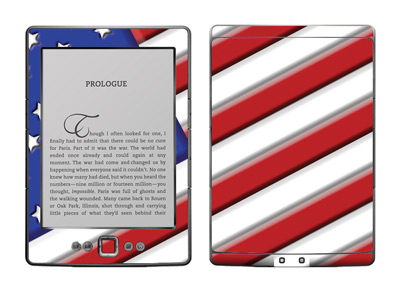 Amazon Kindle 4 Skin :: American Flag 1