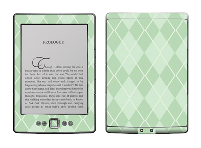 Amazon Kindle 4 Skin :: Argyle Green