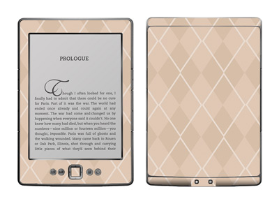 Amazon Kindle 4 Skin :: Argyle Tan