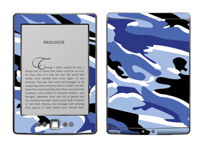 Amazon Kindle 4 Skin :: Camo Blue