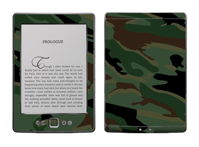 Amazon Kindle 4 Skin :: Camo Green