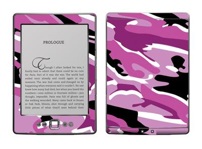Amazon Kindle 4 Skin :: Camo Pink