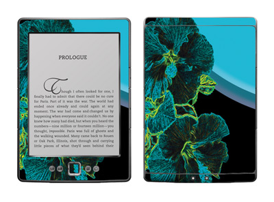 Amazon Kindle 4 Skin :: Cosmic Flowers 2