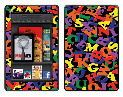 Amazon Kindle Fire Skin :: Alphabet Soup
