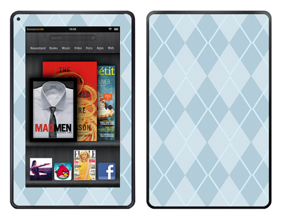 Amazon Kindle Fire Skin :: Argyle Blue