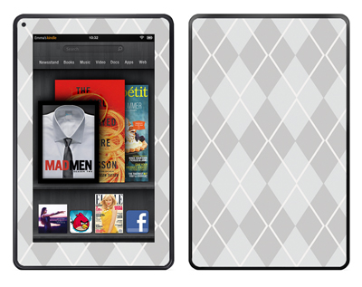 Amazon Kindle Fire Skin :: Argyle Gray