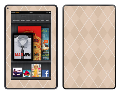 Amazon Kindle Fire Skin :: Argyle Tan