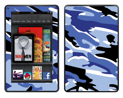 Amazon Kindle Fire Skin :: Camo Blue
