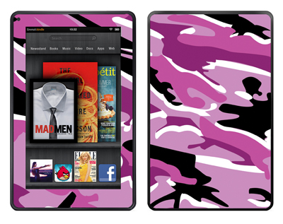 Amazon Kindle Fire Skin :: Camo Pink